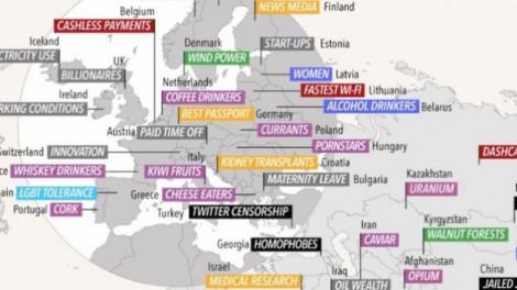Minden ország a legjobb valamiben. Meg fogsz lepődni, hogy Magyarország mivel került fel erre a listára.